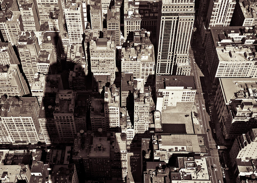 New York Photograph - City Shadow by Dave Bowman