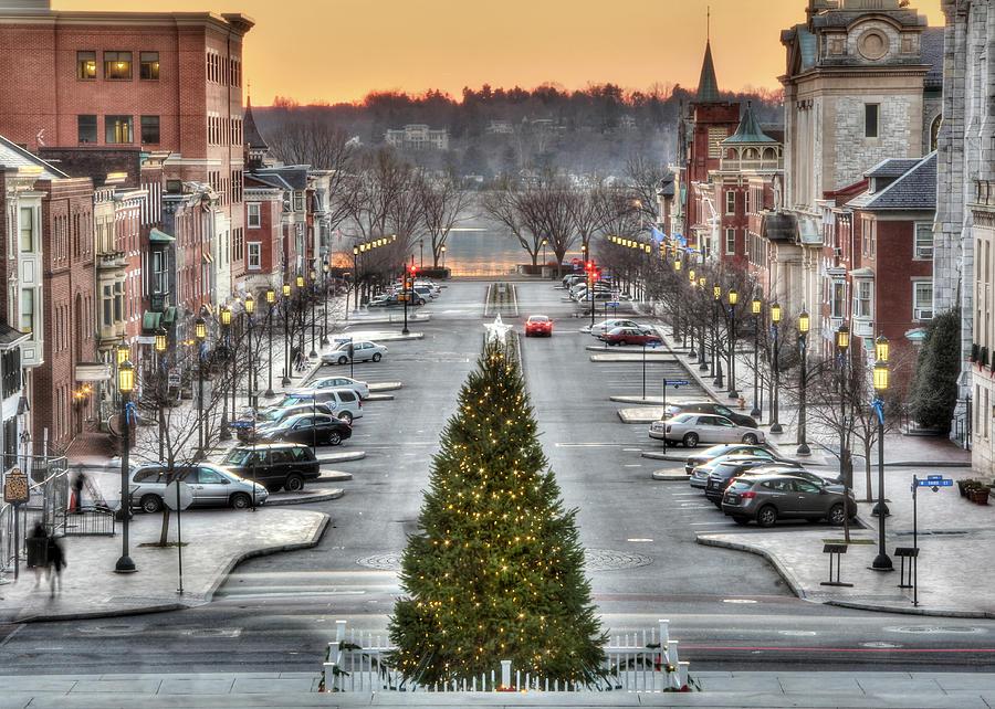 City Sidewalks Photograph