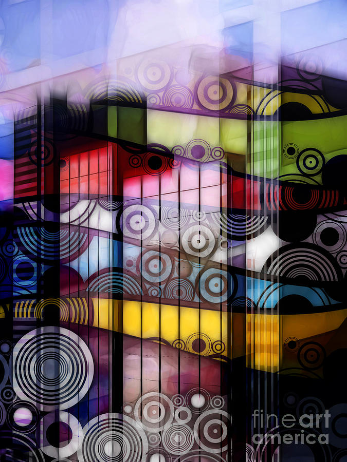 City Sounds Digital Art  - City Sounds Fine Art Print
