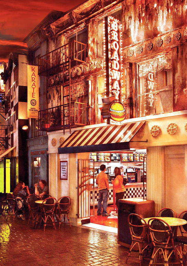 City - Vegas - Ny - Broadway Burger Photograph