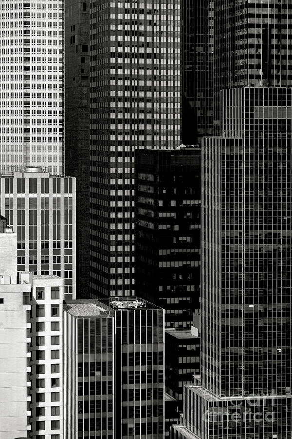Cityscape In Black And White Photograph  - Cityscape In Black And White Fine Art Print