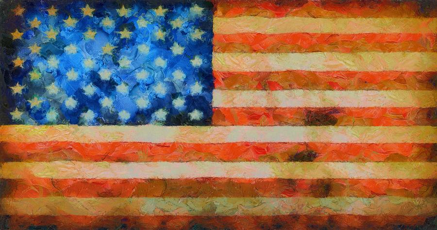 Old Glory Painting - Civil War Flag by Dan Sproul