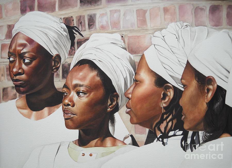 African American Art Painting - Civil War Nurse by Sonya Walker