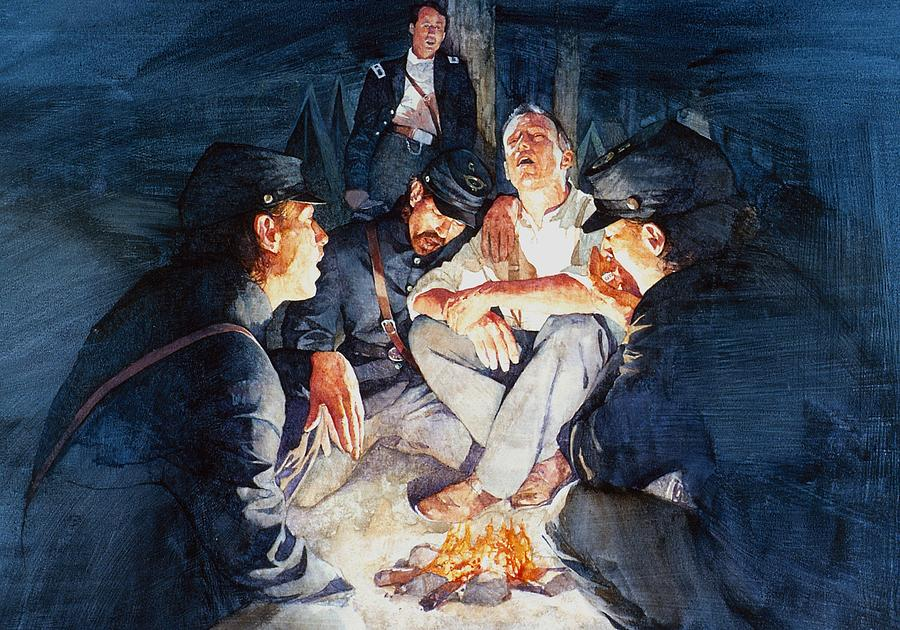 Civil War Soldiers Singing Painting
