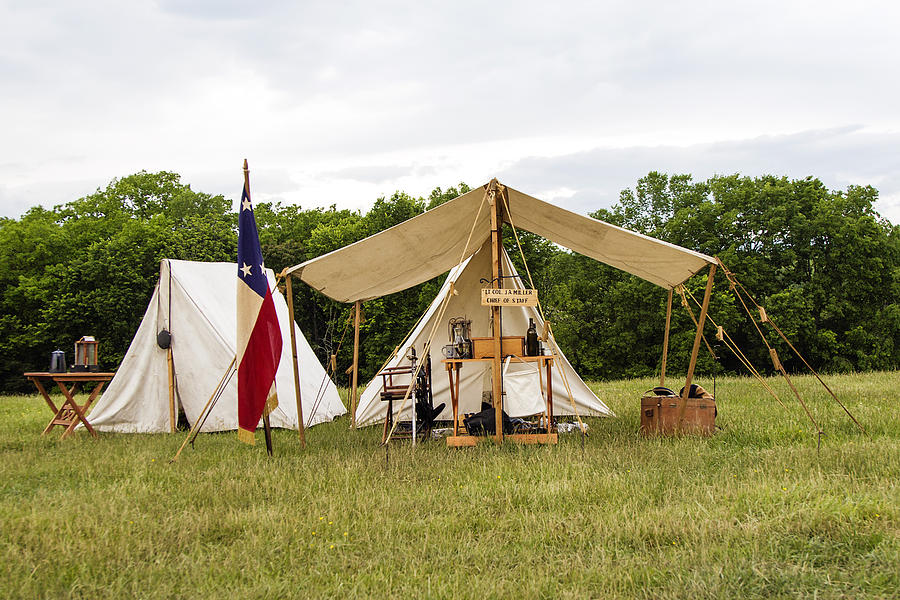 Civil War Tents : Civil war tent photograph by david lester