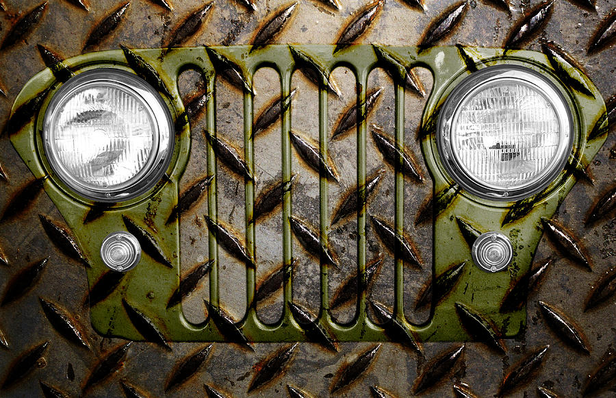Civilian Jeep- Olive Green Photograph