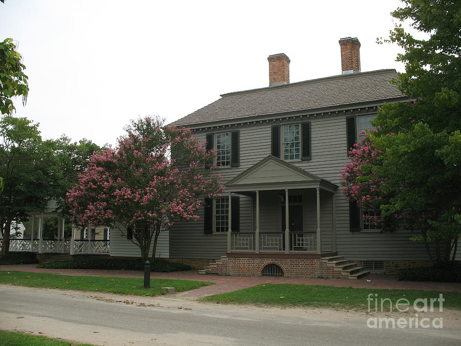Clapboard House Colonial Williamsburg Photograph  - Clapboard House Colonial Williamsburg Fine Art Print