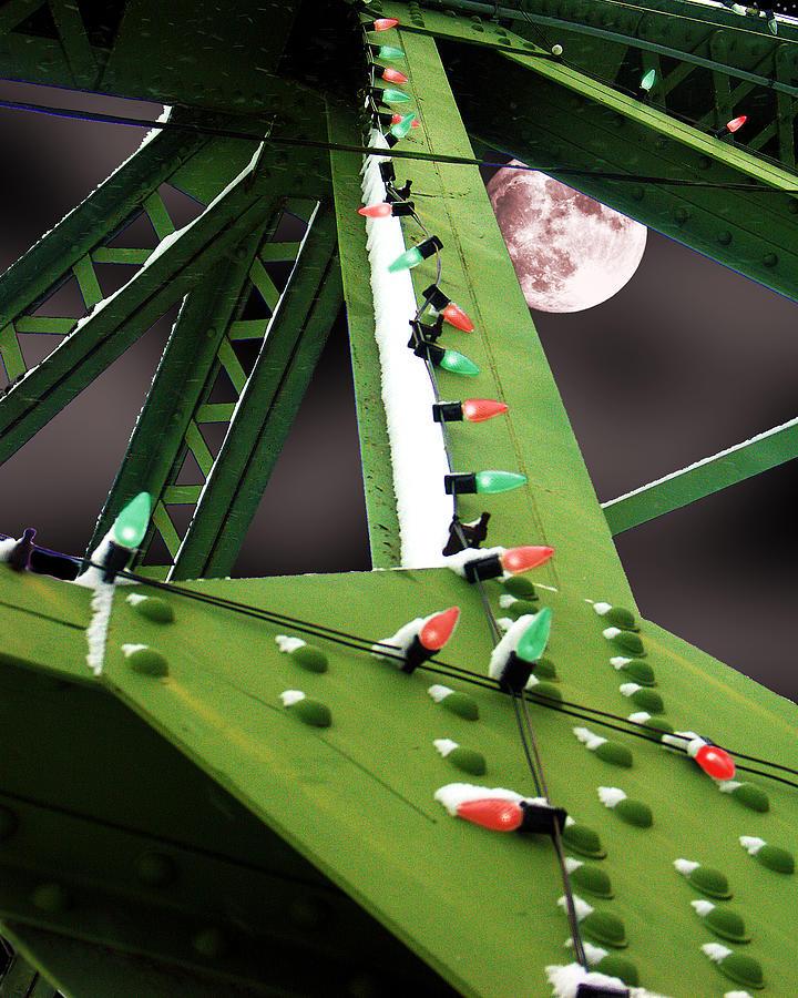 Christmas Digital Art - Clarences Bridge by Tom Romeo
