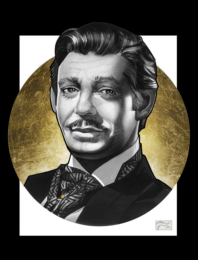 Clark Gable Painting