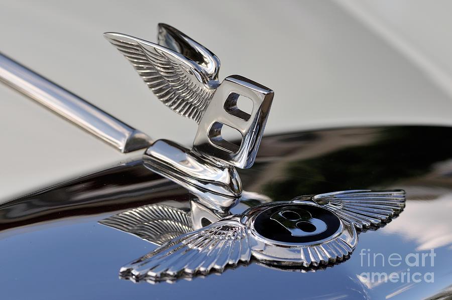 Classic Bentley T Series Corniche 1975 Badge Photograph