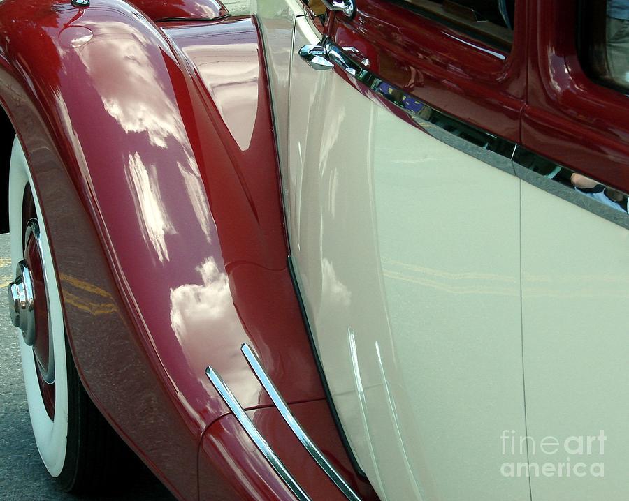 Classic Car Photograph - Classic Car Fender by Donna Cavanaugh