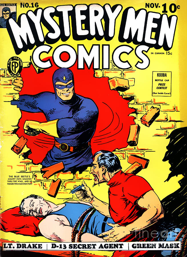 Classic Comic Book Cover Art : Classic comic book cover mystery men comics