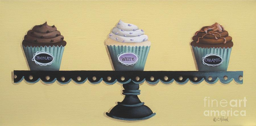 Art Painting - Classic Cupcakes by Catherine Holman