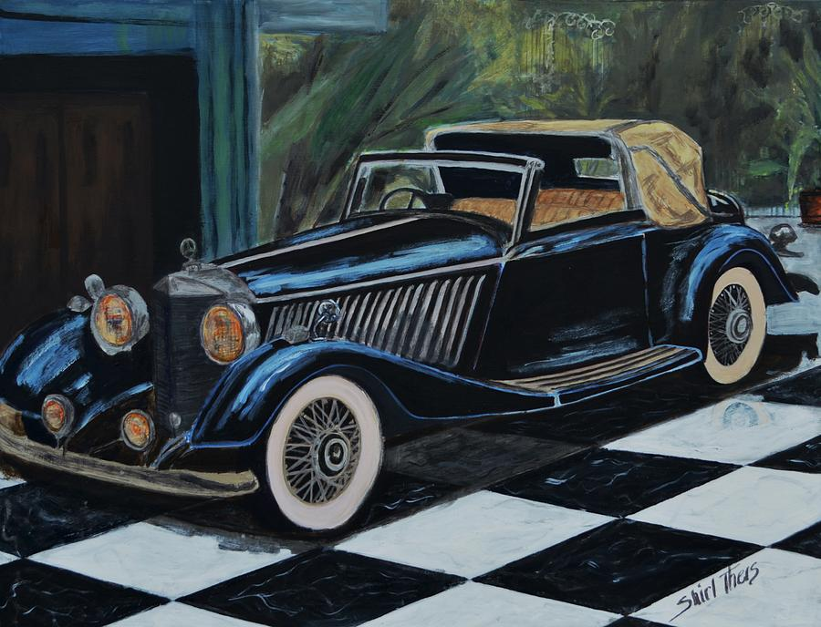 Classic mercedes benz painting classic mercedes benz for Vintage mercedes benz posters