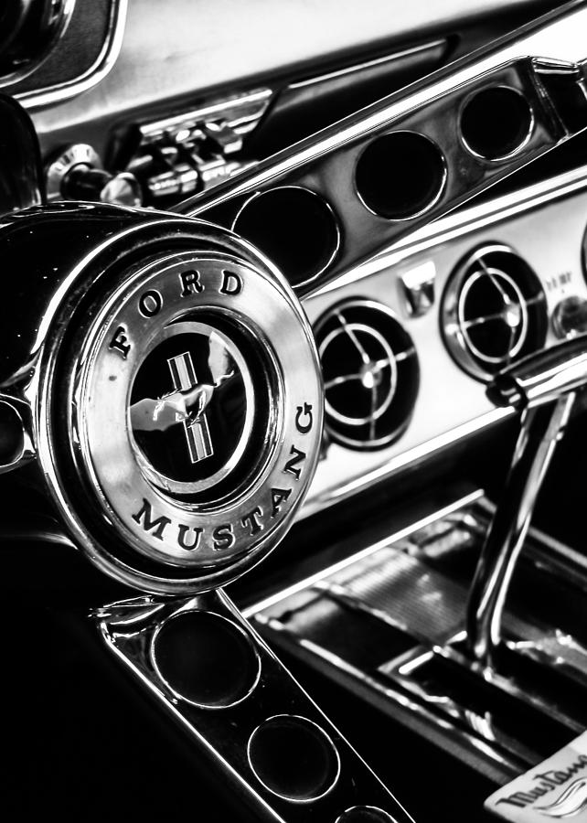 Classic Mustang Interior Photograph By Jon Woodhams