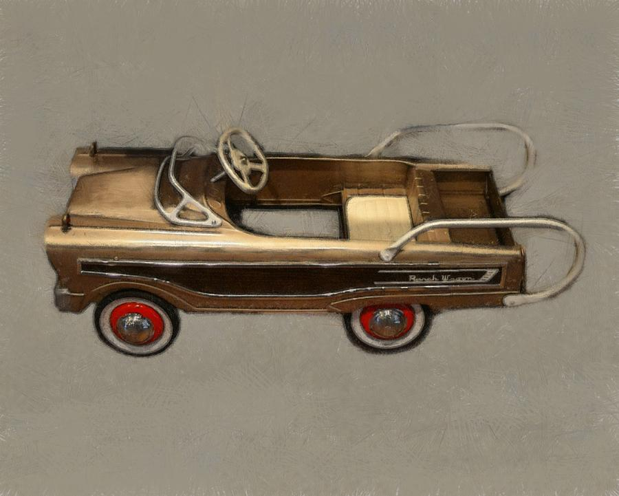 Classic Ranch Wagon Pedal Car Photograph