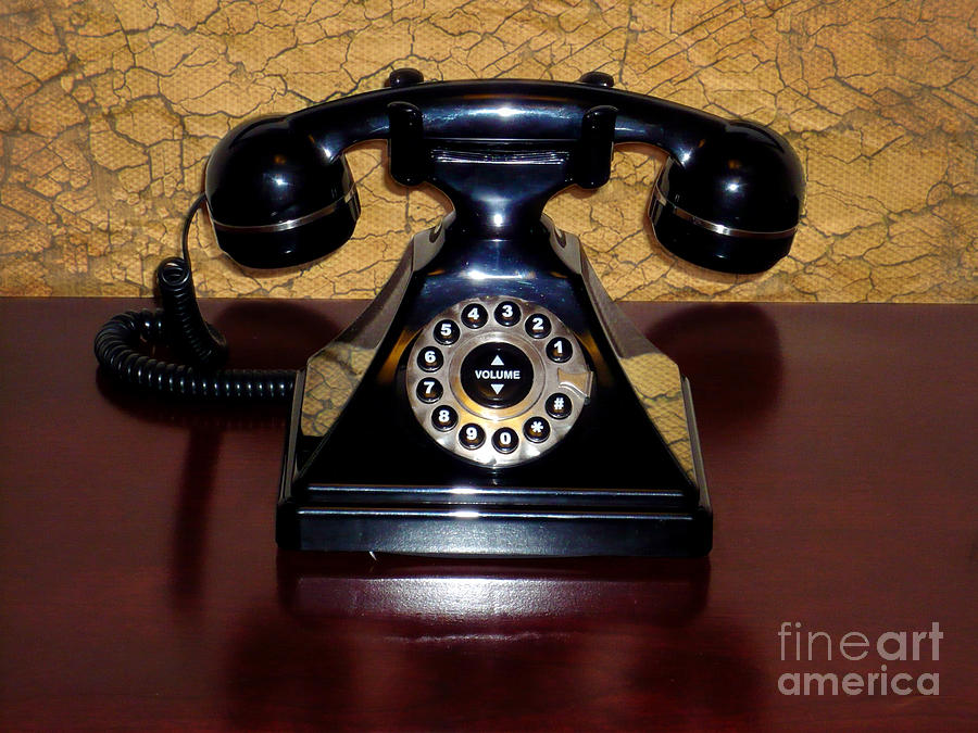Classic Telephone Photograph - Classic Rotary Dial Telephone by Mariola Bitner