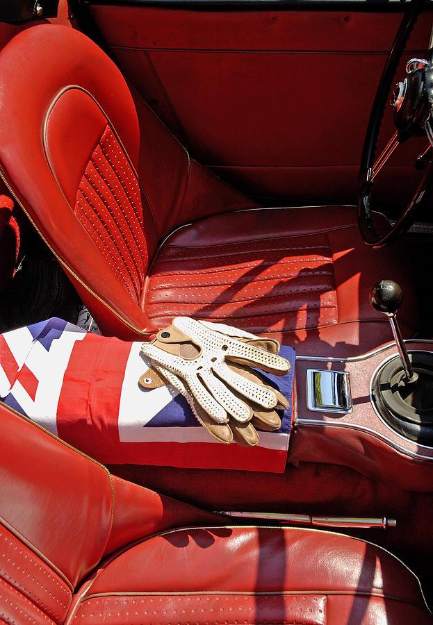 classic sports car interior photograph by norman pogson. Black Bedroom Furniture Sets. Home Design Ideas