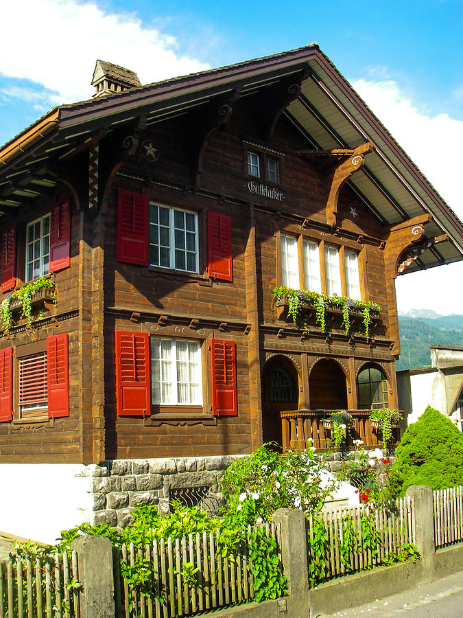 Classic Swiss Chalet On A Farm Near Sarganz Switzerland By