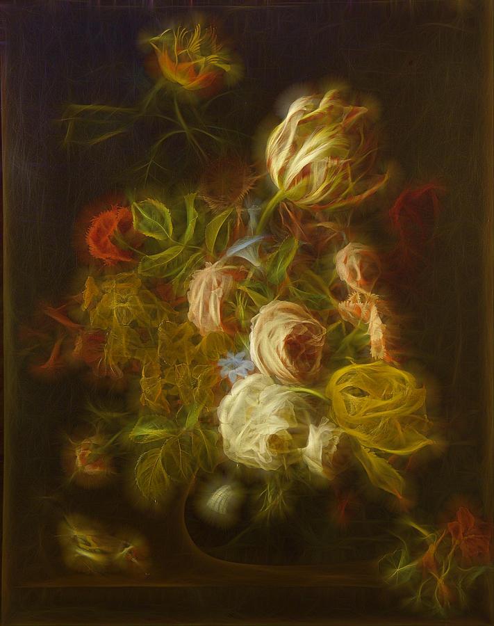 Flowers Digital Art Digital Art - Classica Modern - M01 by Variance Collections