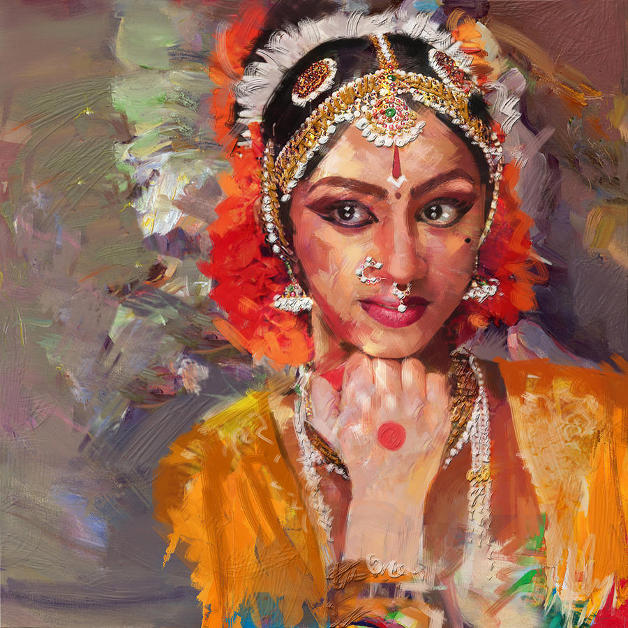 classical dance art 1 painting by maryam mughal