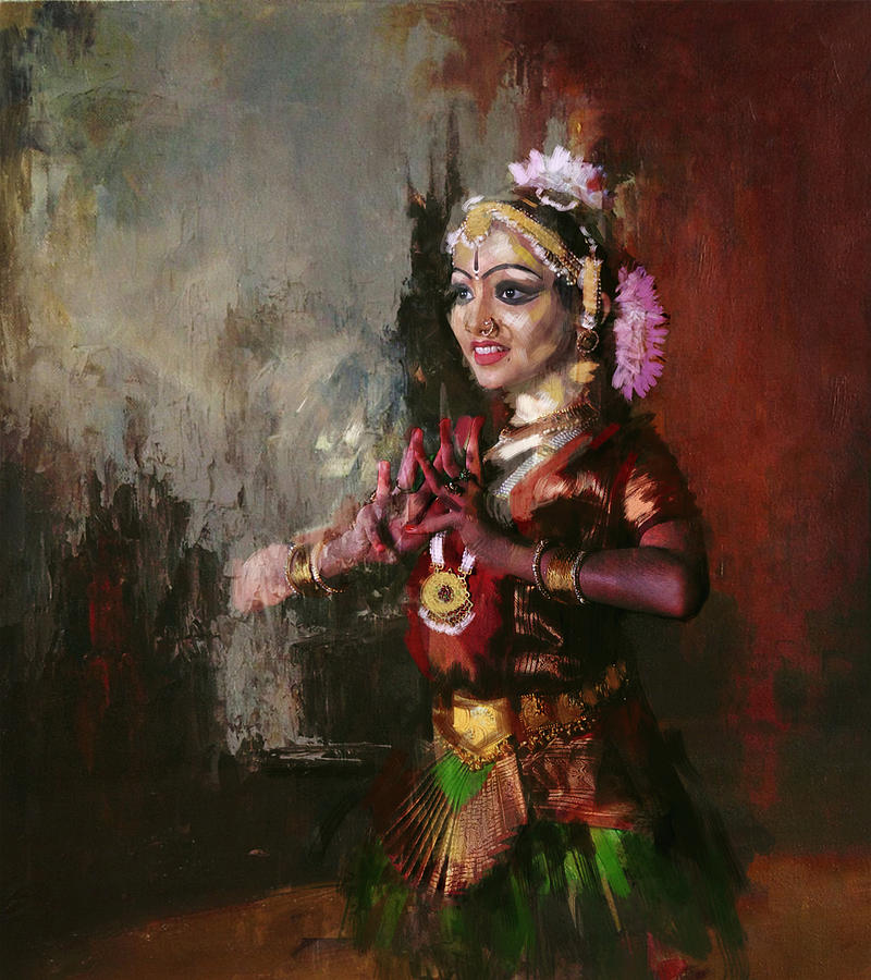 Classical Dance Art 10 Painting by Maryam Mughal