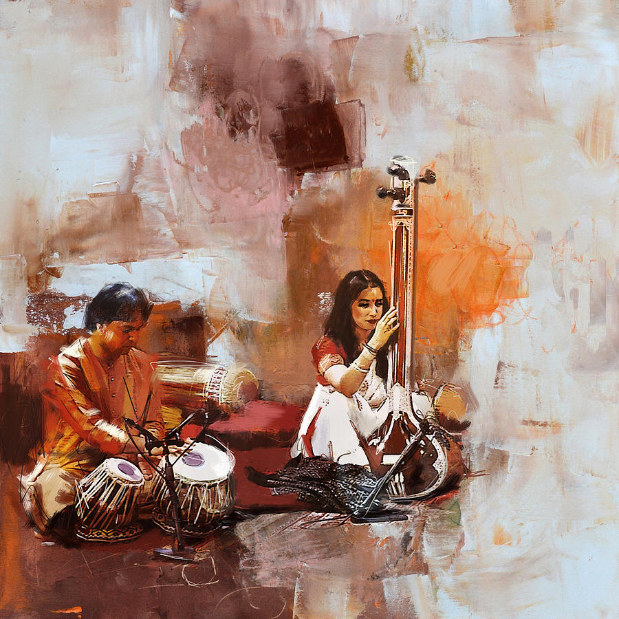 Classical Dance Art 17 Painting By Maryam Mughal