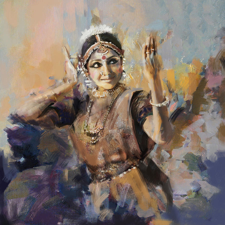 Classical Dance Art 3 Painting by Maryam Mughal
