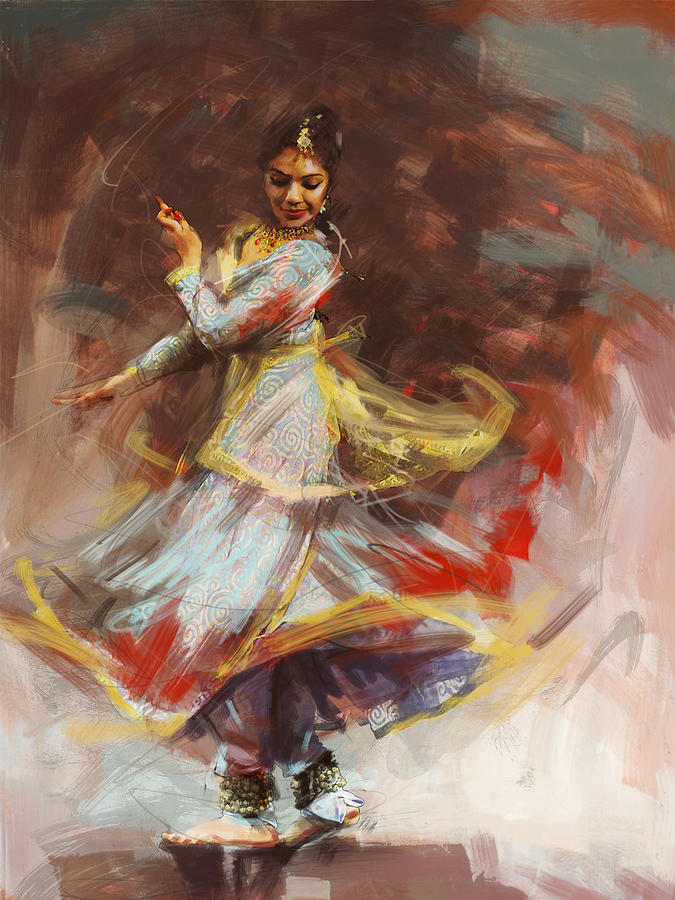 Indian Women Paintings Indian Woman Dancing Painting Z Duct Heat Exchanger