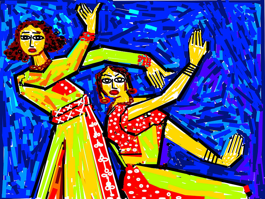 Classical Dancers Digital Art  - Classical Dancers Fine Art Print