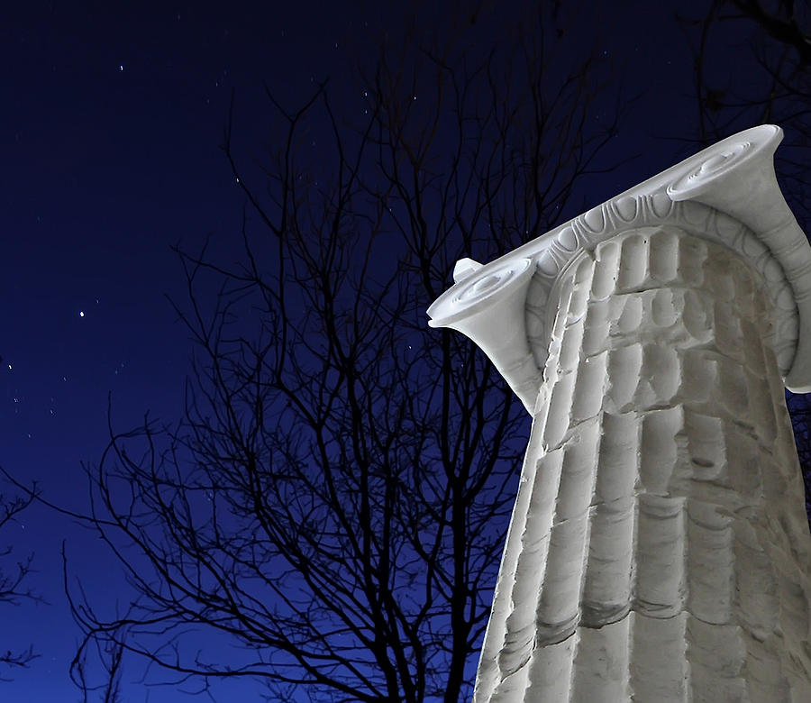 Pillar Photograph - Classical Evening by Stellina Giannitsi