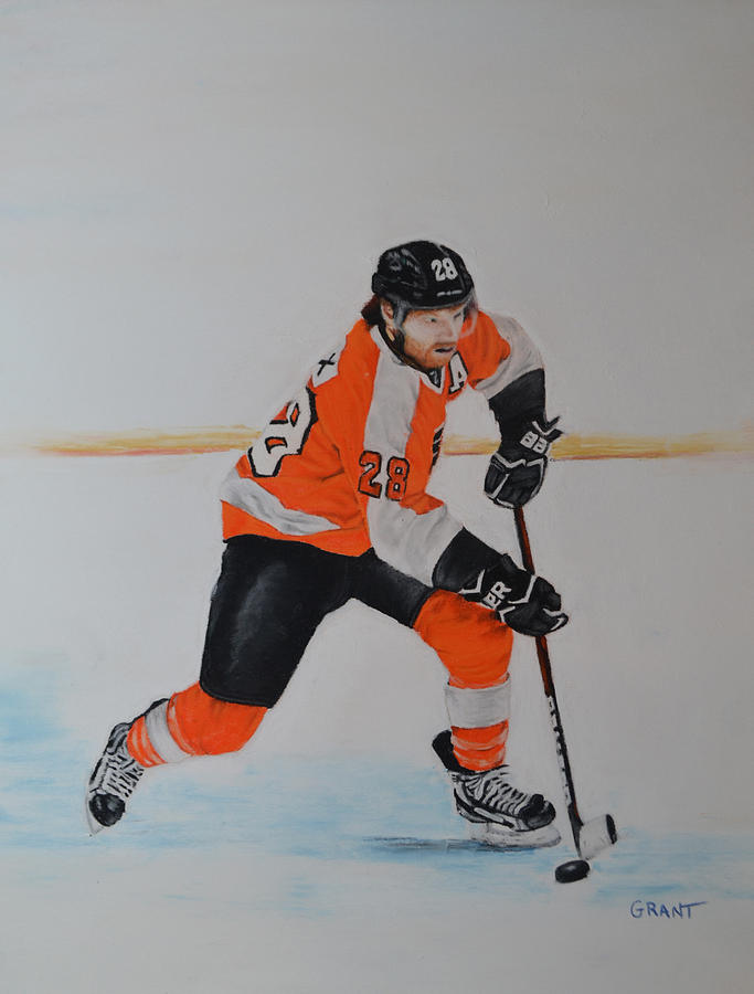 Claude Giroux Philadelphia Flyer Painting