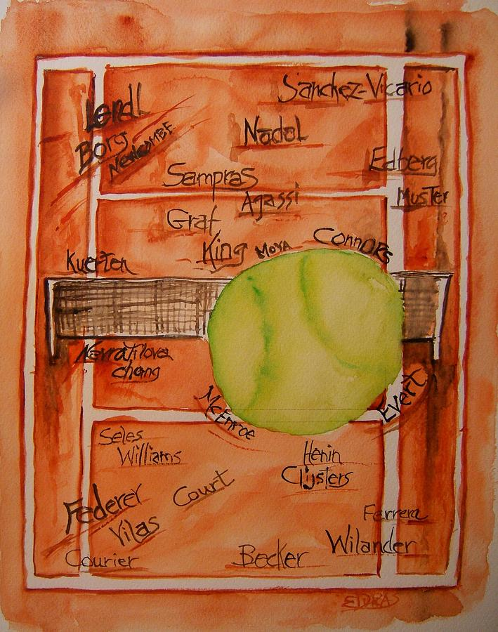 Tennis Painting - Clay Courters by Elaine Duras
