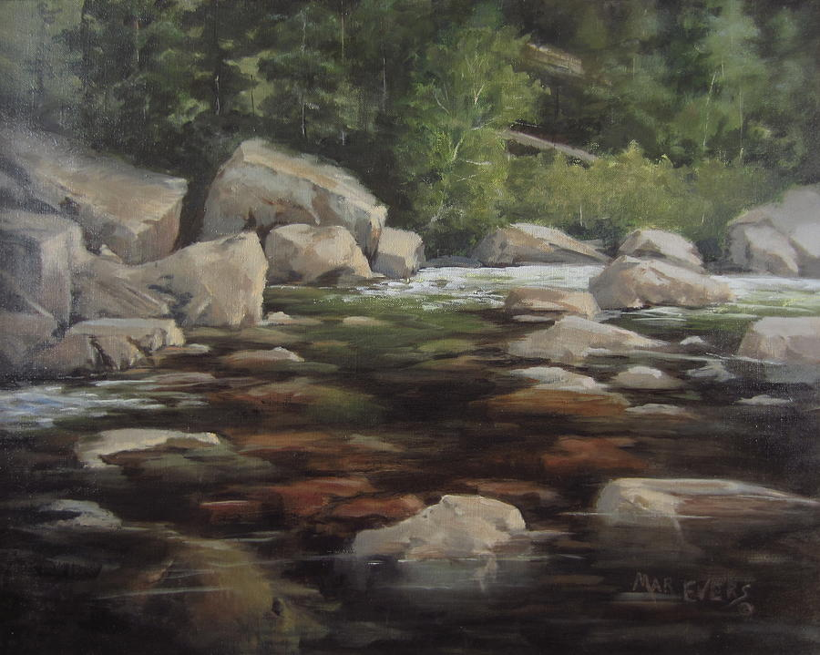 Clear Creek Painting  - Clear Creek Fine Art Print