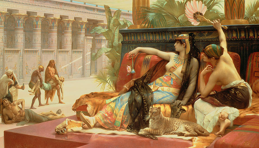 Cleopatra Testing Poisons On Those Condemned To Death Painting