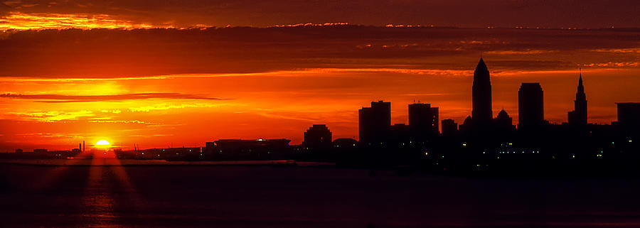 Cleveland Silhouette Photograph