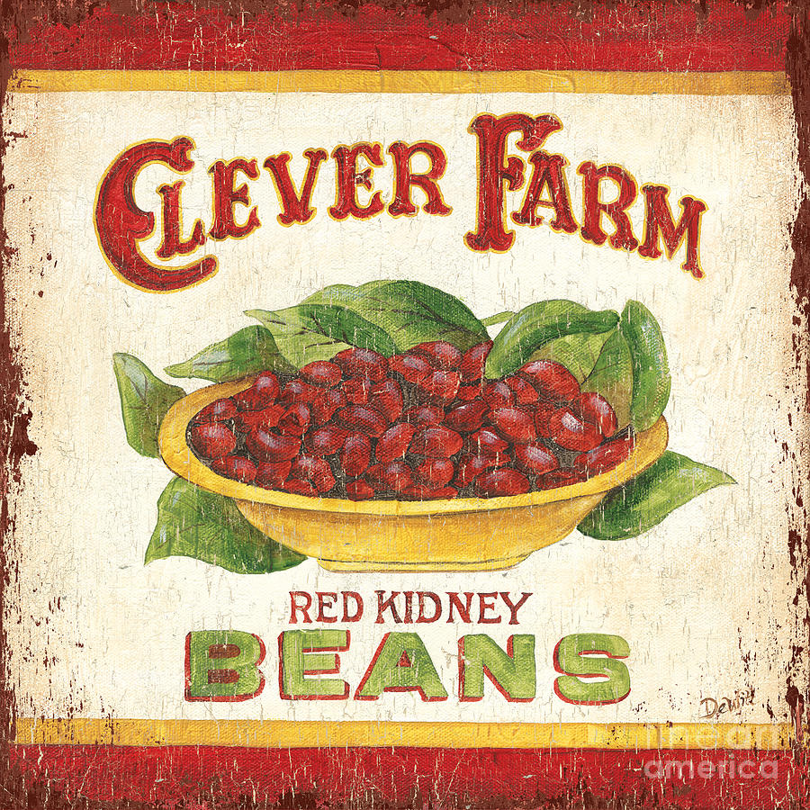 Clever Farms Beans Painting  - Clever Farms Beans Fine Art Print