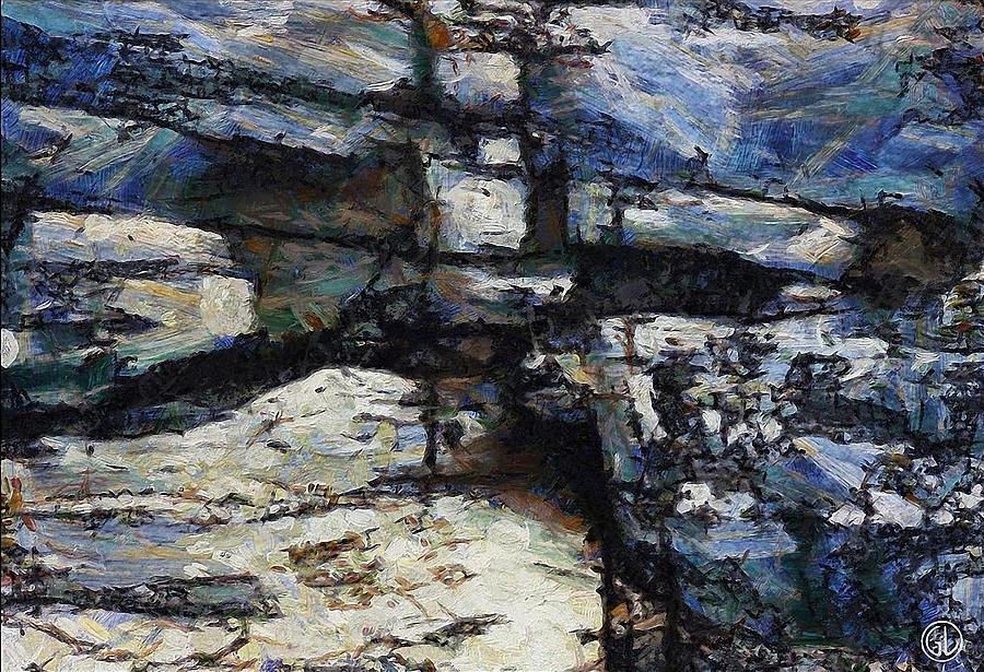 Stone Digital Art - Cliff Abstract by Gun Legler