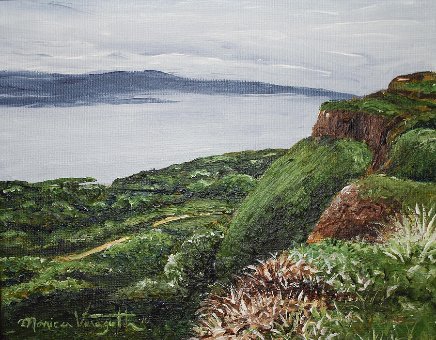Cliffs Of Magho Painting  - Cliffs Of Magho Fine Art Print
