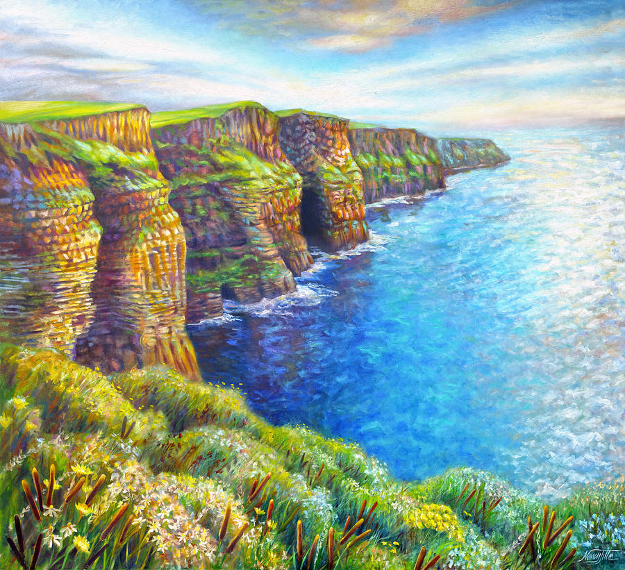cliffs of moher painting by nancy tilles