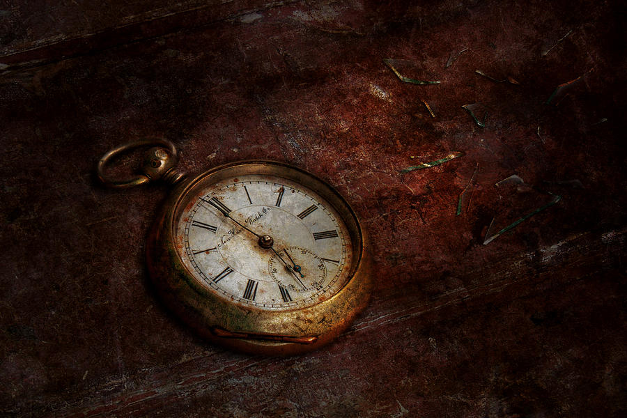 Clock - Time Waits Photograph  - Clock - Time Waits Fine Art Print