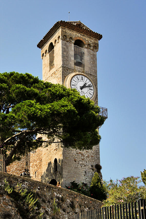 French Photograph - Clock Tower - Cannes - France by Christine Till