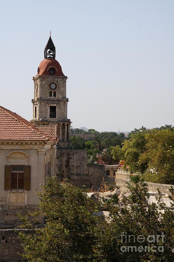 Clock Tower - Rhodos City - Roloi Photograph
