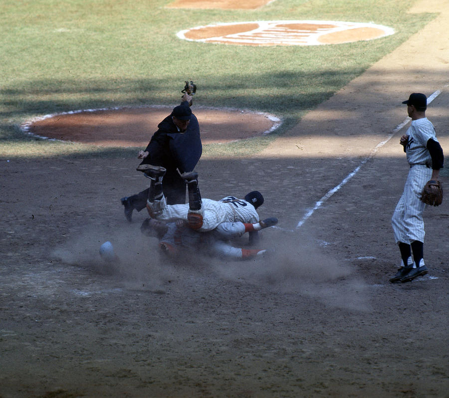 Close Play At The Plate  Photograph