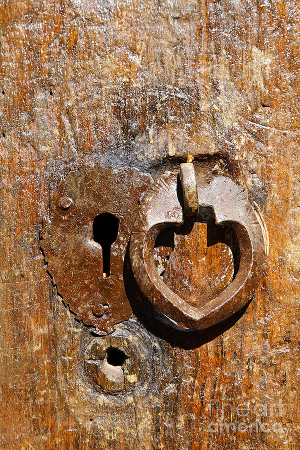 Close Up Of A Heart Shaped Lock On A Door In The Village Of Abyaneh In Iran Photograph