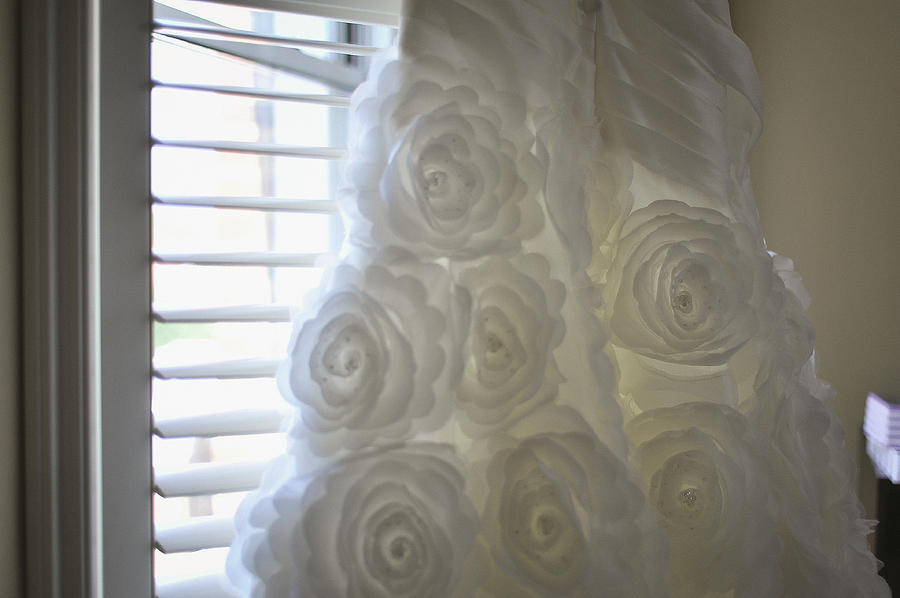 Close-up Of Flower Wedding Dress Photograph  - Close-up Of Flower Wedding Dress Fine Art Print