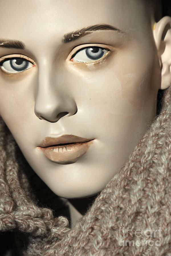 Mannequin Photograph - Closeup On Mannequins Face by Sophie Vigneault