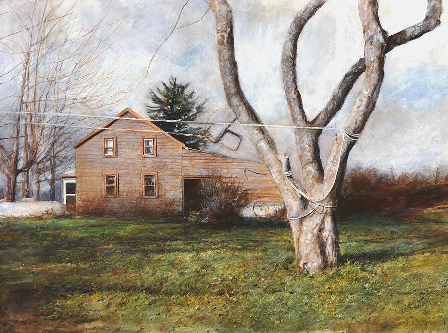 House Painting - Clothesline by Wayne Daniels