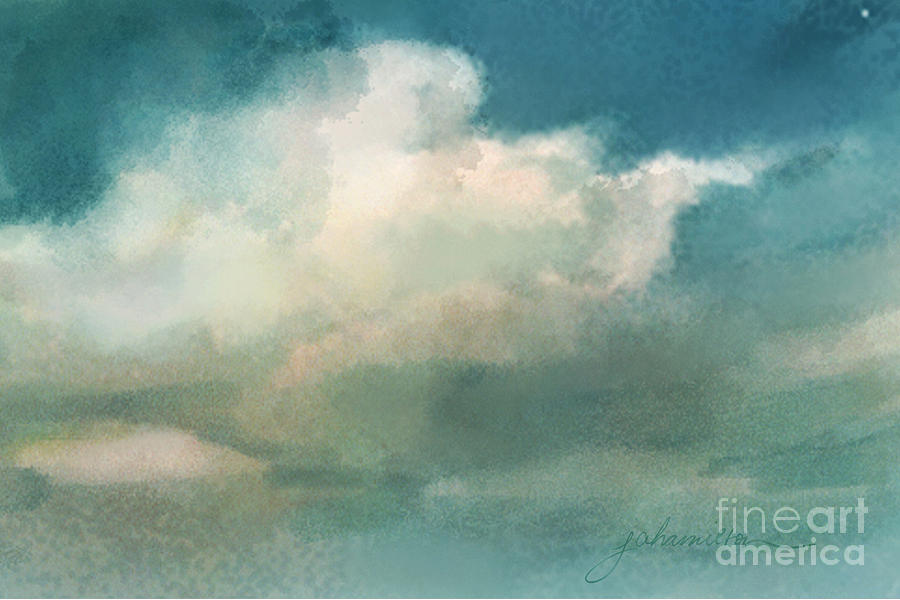 Cloud Diptych Right Painting  - Cloud Diptych Right Fine Art Print