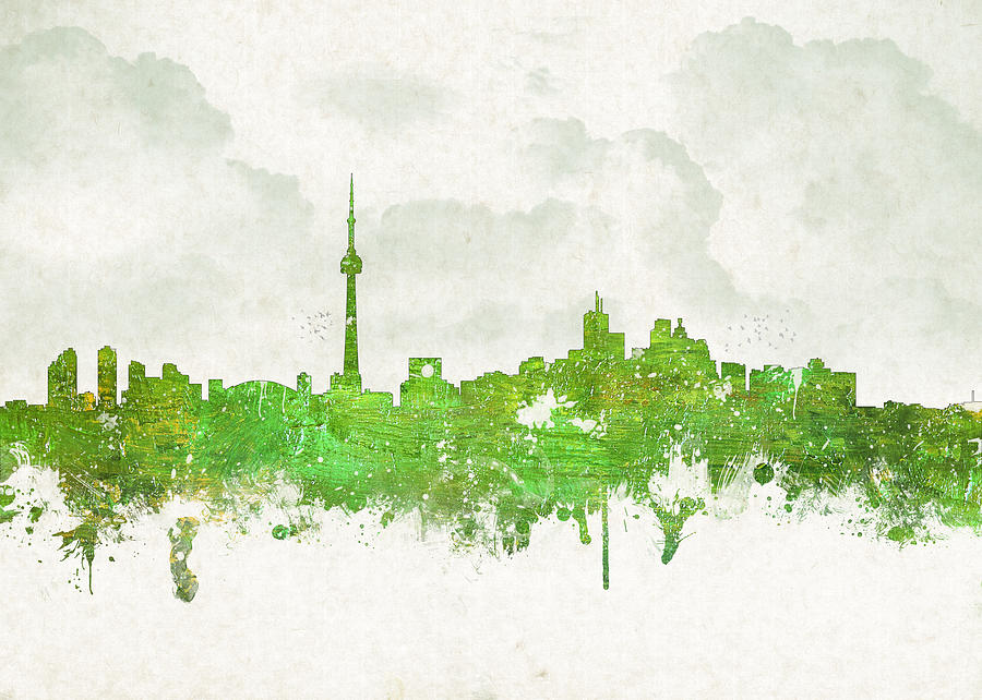 Architecture Digital Art - Clouds Over Toronto Canada by Aged Pixel
